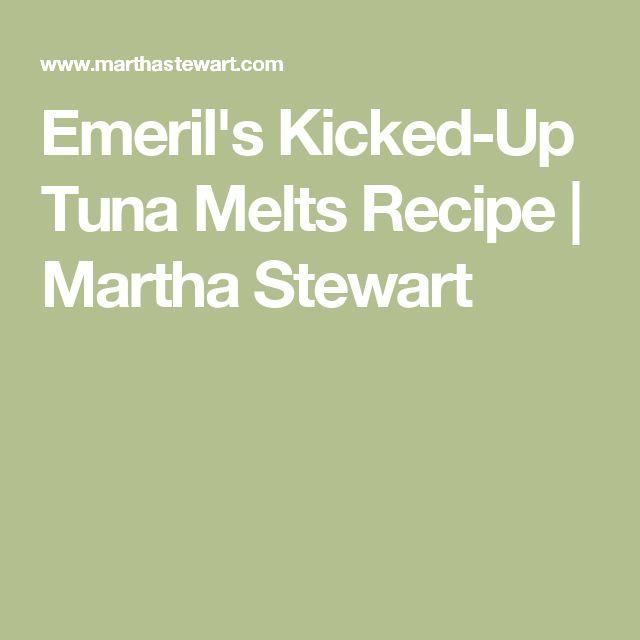 Emeril's Kicked-Up Tuna Melts Recipe   Martha Stewart