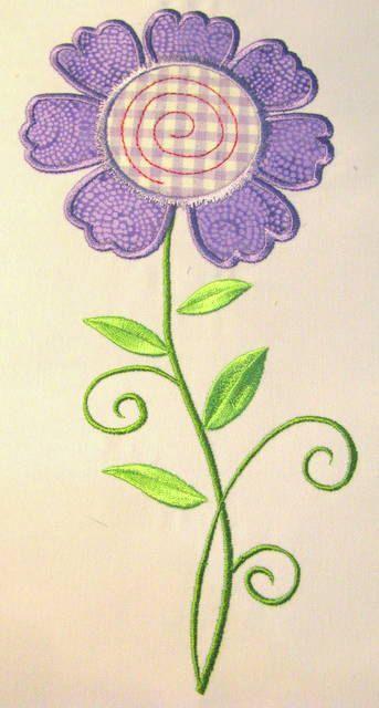 Vintage Flower 06 Machine Applique Embroidery Design  by KCDezigns, $3.50