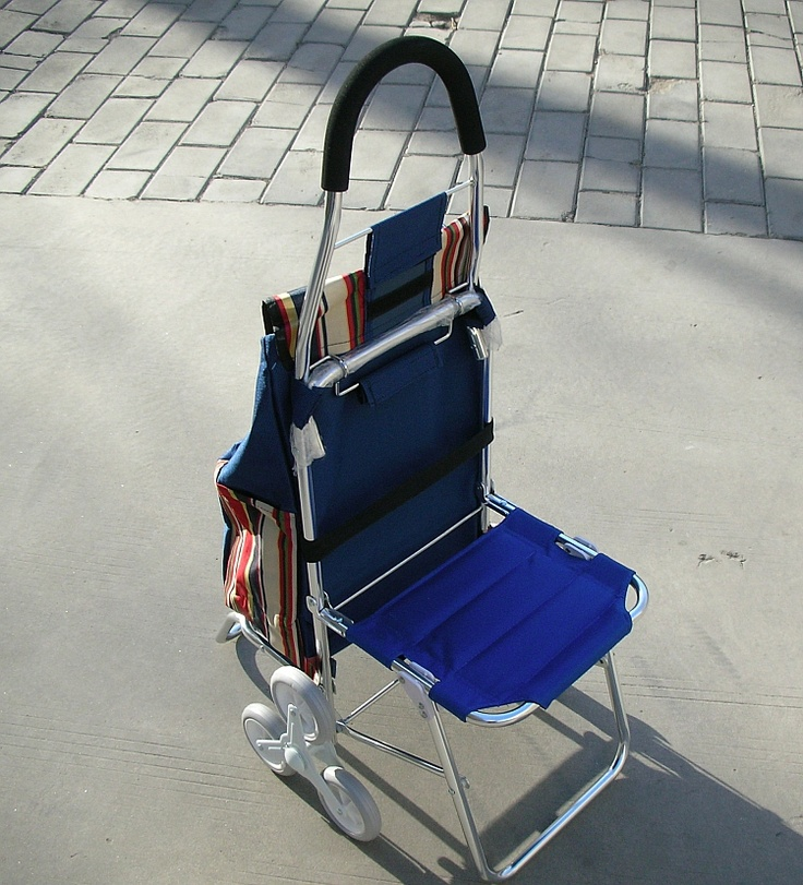 Тележка со встроенным стульчиком / Chair cart!
