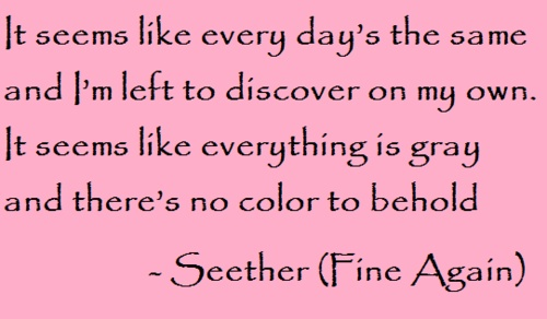 """Seether """"Fine Again"""" #lyrics"""