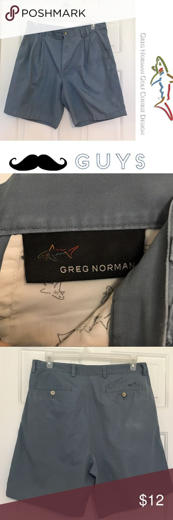Greg Norman blue cotton golf shorts sz 36 EUC Great casual to classy look for the summer greg norman Shorts