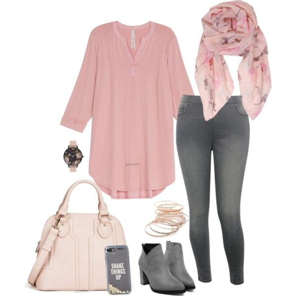 Pink morning- plus size by gchamama on Polyvore featuring Melissa McCarthy Seven7, M&Co, Sole Society, Red Camel, Olivia Burton, Humble Chic and Kate Spade