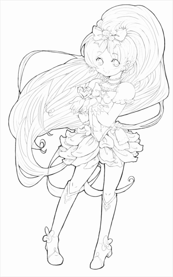 Anime Coloring Pages Printable Beautiful 7 Anime Coloring Pages Pdf Jpg Cartoon Coloring Pages Wolf Colors Printable Coloring Pages