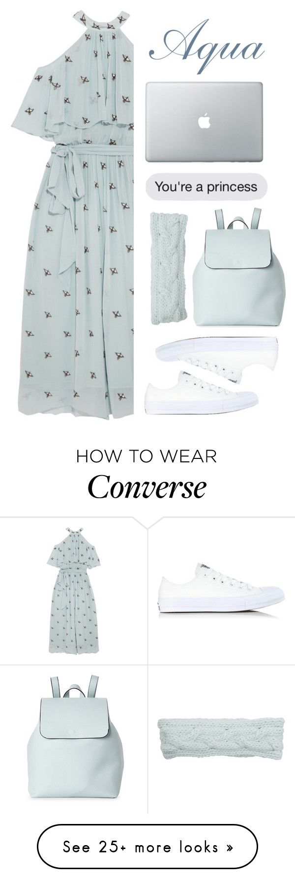 """""""Aqua"""" by sprinkle-fashion on Polyvore featuring Temperley London, Converse, Street Level and Krochet Kids"""