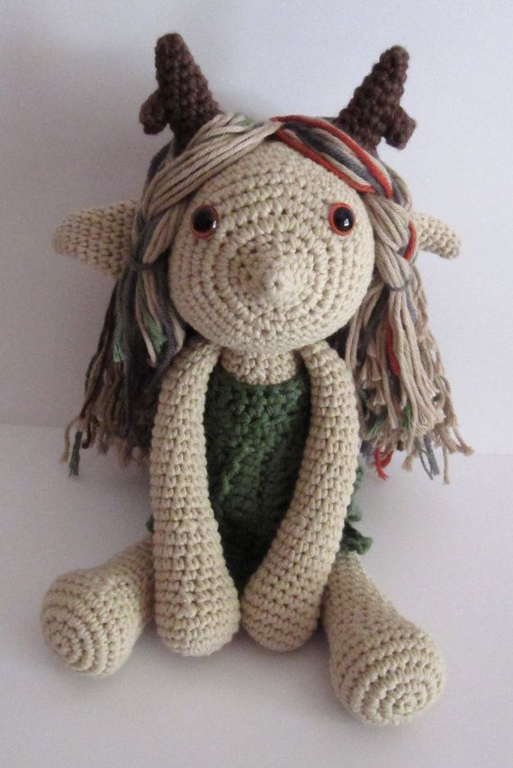 #Handmade #crochet #fairy doll. #Amigurumi. Made from cotton and acrylic yarns. Pattern by LucyRavenscar