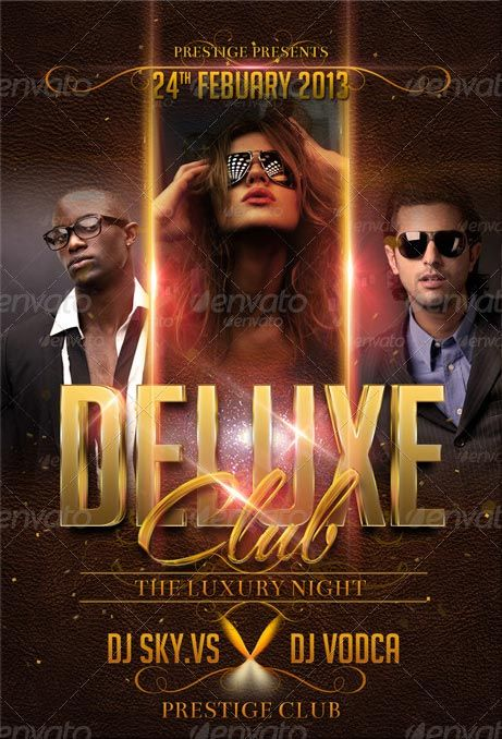 Deluxe Club Flyer Template http://clubpartyflyer.com/deluxe-club-flyer-template/