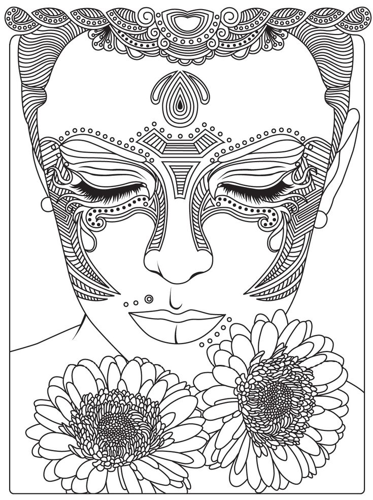 340 Best Face Coloring Pages Images By Marshae Campbell On Pinterest