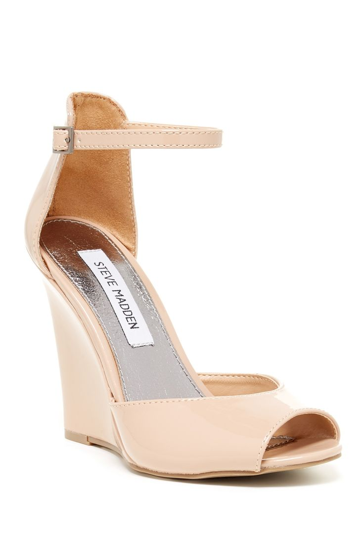 wedge sandals are a great option for a wedding