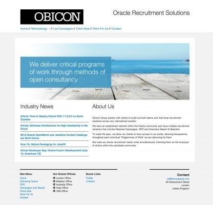 Obicon Creative Website Design