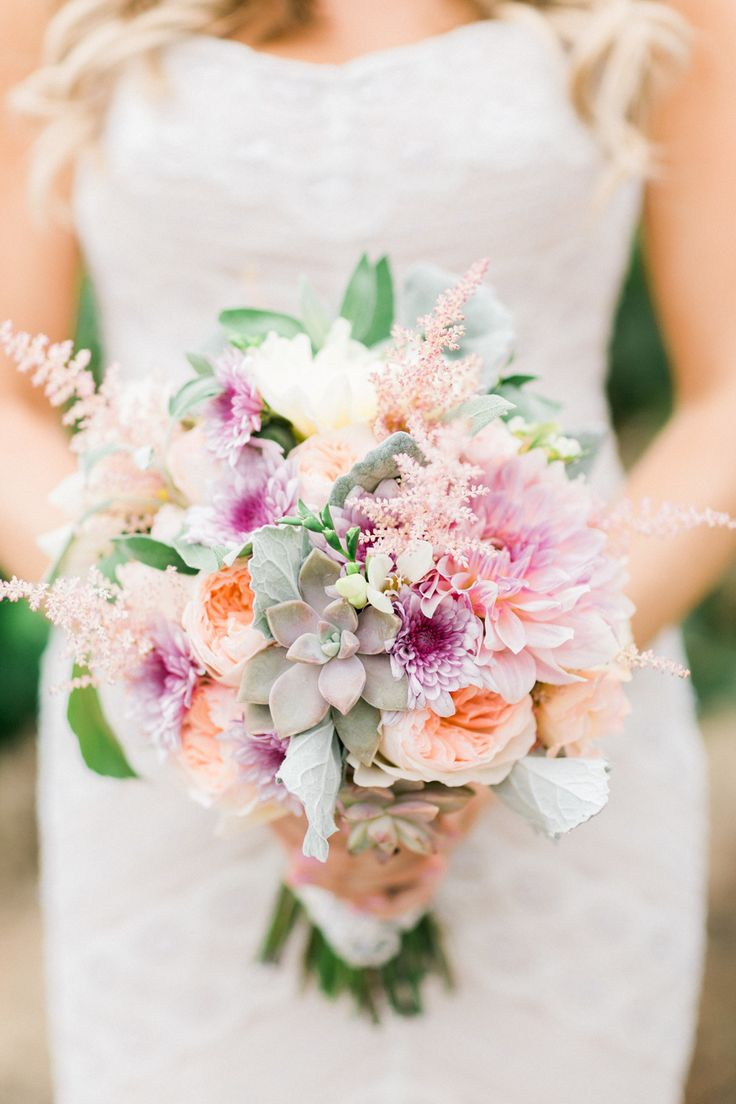 2016 Pantone Inspired Wedding Bouquets: http://www.stylemepretty.com/2016/01/07/pantone-2016-rose-quartz-inspired-bouquets/