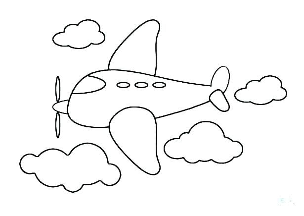 An Aeroplane To Color Toddlers Love Coloring Easy Drawings Free Printable Coloring Pages Easy Coloring Pages