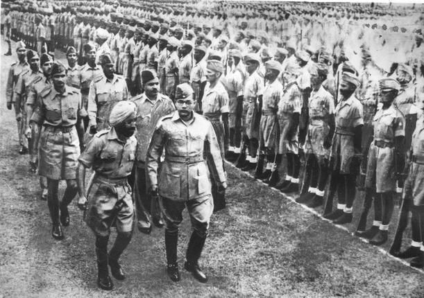 Guarded secrets: An undated photo of Subhas Chandra Bose with the Indian National Army,