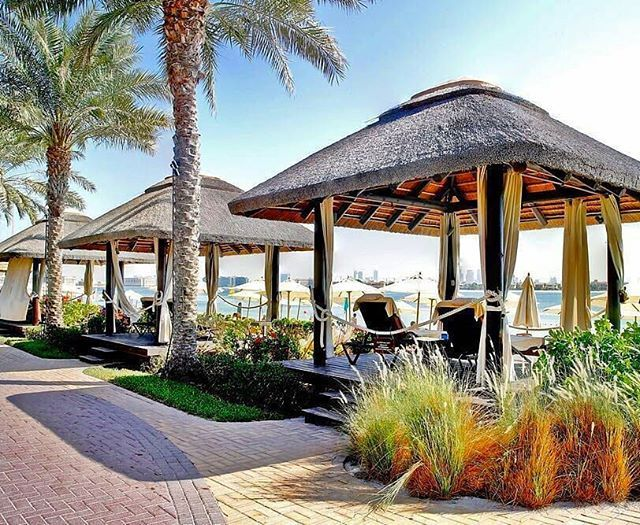 Get cozy in our cape reed outdoor cabana by the beach at Sofitel The Palm & Resort!