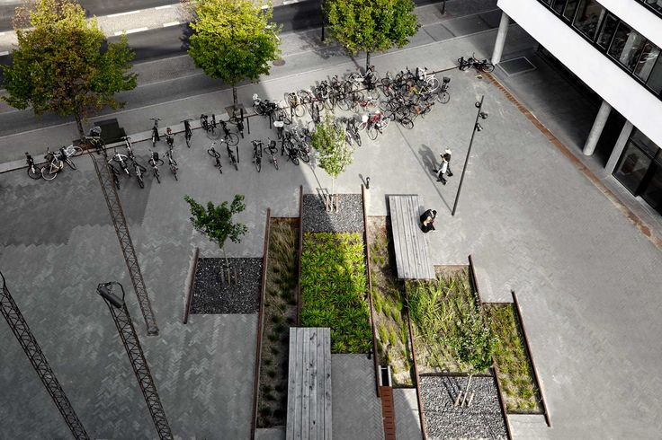 Pocket Park: reinventing the old rails as an urban landscape while enhancing the history of the site.
