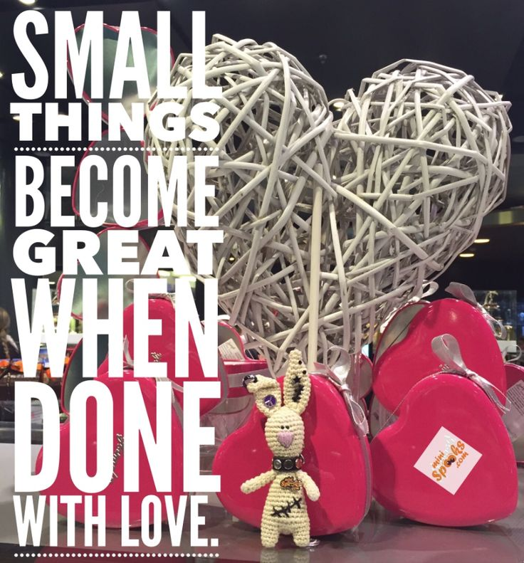 Small things become great when done with love. #minispooks #crochet #amigurumi #rabbit #love #quote #smallthings