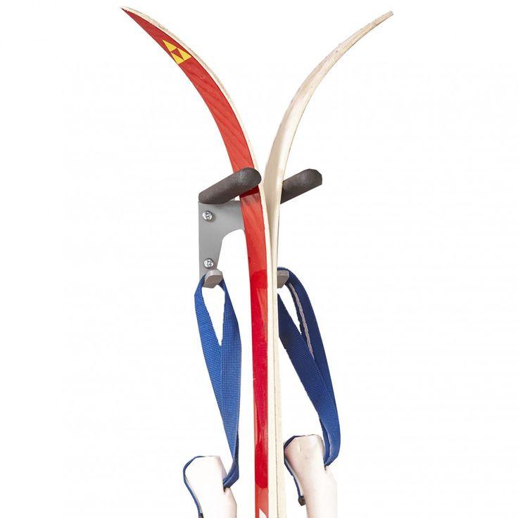Support mural skis et bâtons - Rangement ski