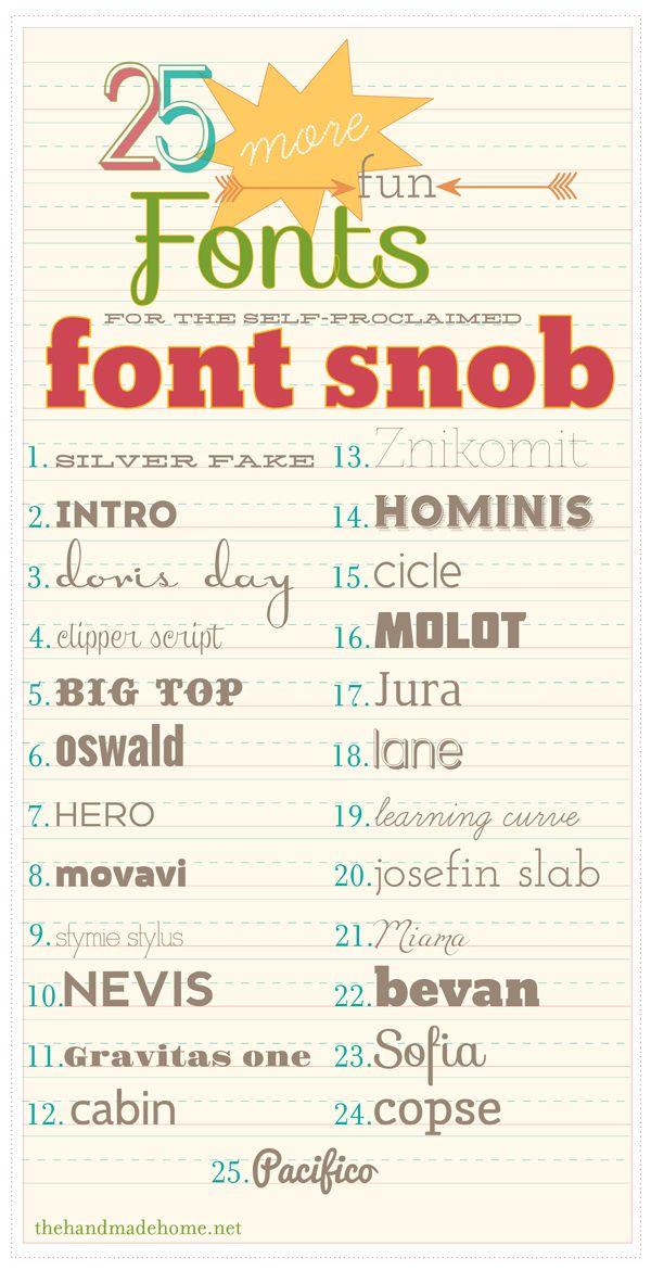 25 fonts
