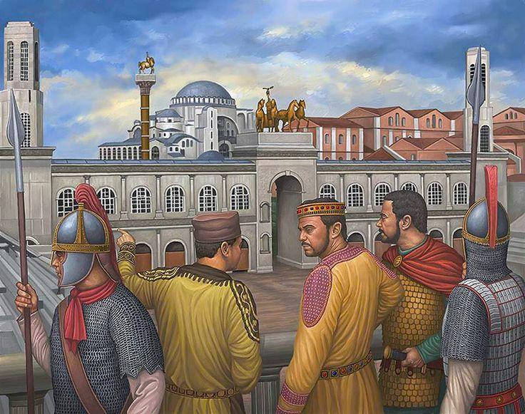 """""""Justiniano I frente al hipódromo, Constantinopla, siglo VI dC."""""""
