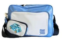 Fiat 500 Blue Messanger Bag with Wrist Bag | Paper Products Online