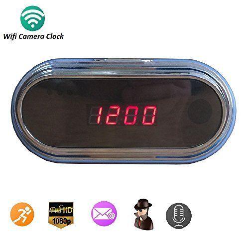 Wifi 1080P Hidden Camera Wireless Security Spy Cameras Alarm Clock Mini DVR Nanny Camera [8GB Micro SD Card] Blue, http://www.amazon.com/dp/B01J5453QW/ref=cm_sw_r_pi_awdm_x_6oD-xbC5ZE1DA