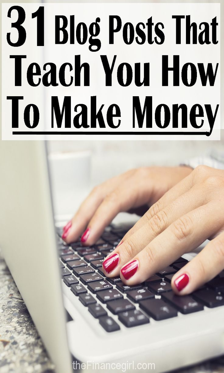 31 blog posts that teach you how to make money online (the ultimate side hustle guide). Amazing blog posts from bloggers about how to make money online and otherwise. | Financegirl