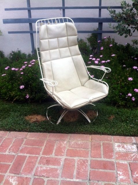 Items Similar To Vintage HOMECREST Eames Era Bertoia PATIO Furniture Tall Swivel  Chair Plus Original Cushion On Etsy