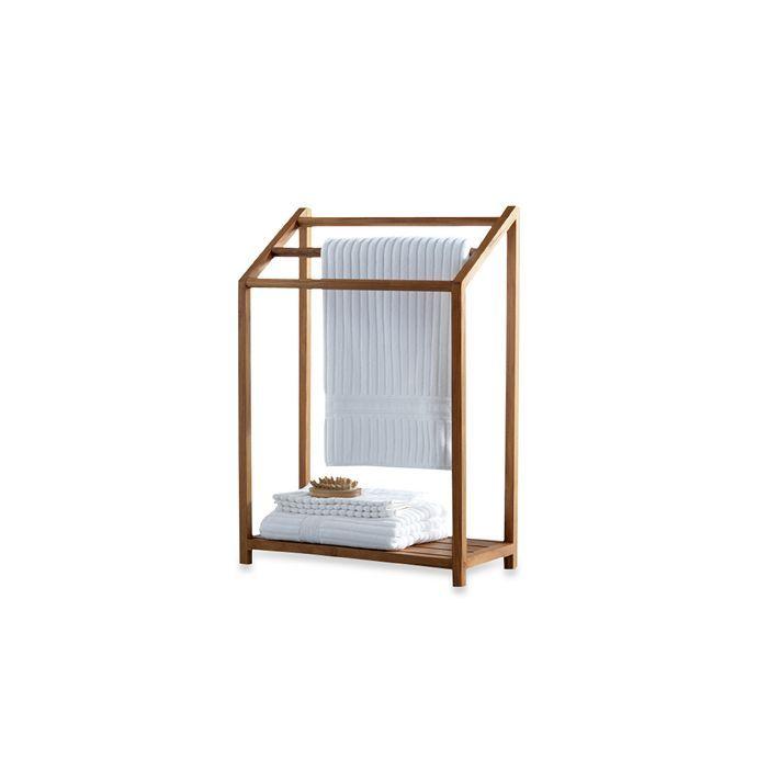 Teak Free Standing Towel Rack Free Standing Towel Rack Teak Bed Bath And Beyond