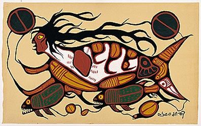 Copper Thunderbird by Norval Morrisseau   Native Canadian Artist