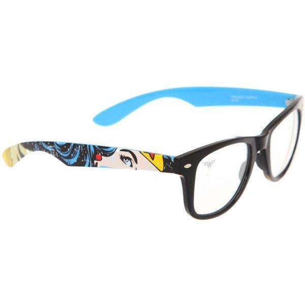 DC Comics: Wonder Woman glasses (via Polyvore)