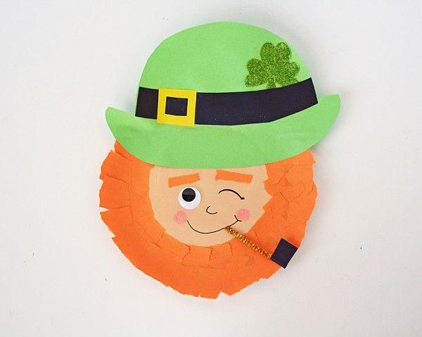 Winking Paper Plate Leprechaun - Crafts by Amanda