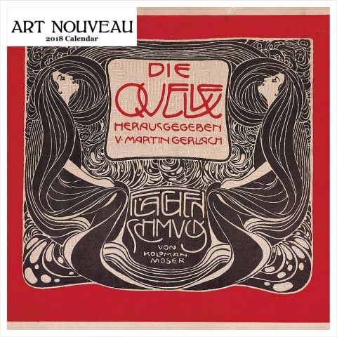 Art of nouveau graphics wall calendar