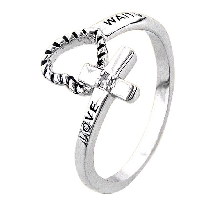 Love Waits Purity RingStainless Steel; Whole Sizes 5-9 -$21.95