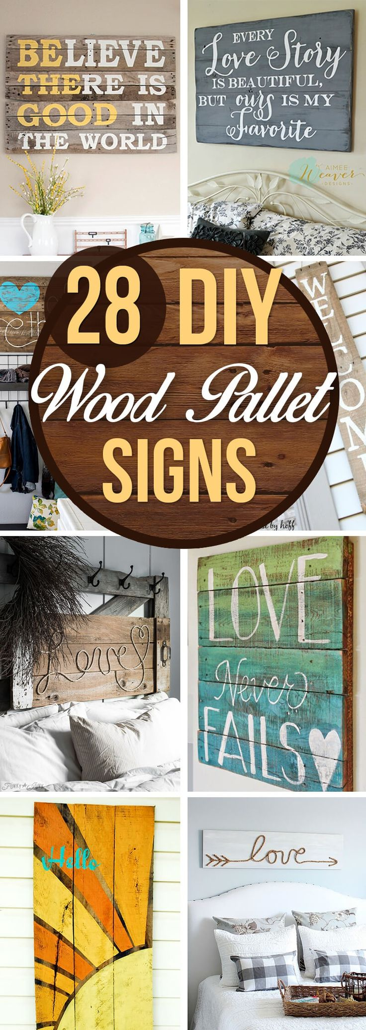 Making your own art is the easiest way to add a touch of your unique personality to your home. If you want to give your living space a rustic or vintage feel, try one of these 30 awesome DIY pallet signs. This list has DIY pallet sign ideas for every room in the house from the laundry room to...