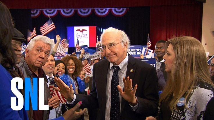 "Despite his pals' (Bobby Moynihan, Cecily Solid, Jay Pharoah) best efforts, Sen. Bernie Sanders (Larry David) keeps searching for ways to distressed citizens (Leslie Jones, Aidy Bryant) in Iowa.  Obtain extra SNL on Hulu Plus:  Get a lot more SNL: Complete Episodes: ...  Like SNL: Follow SNL: SNL Tumblr: SNL Instagram: SNL Google+: ... SNL Pinterest:    <div class=""ytg-video-url"">    https://www.youtube.com/watch?v=nn4tP7ogWIA    </div>"