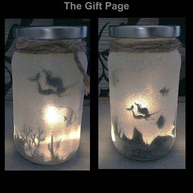 Night light, mood lighting, Mermaid in a jar, Fairy Jar, Glitter Jar, Christmas, light up jars, mason jars by TheGiftPage on Etsy https://www.etsy.com/uk/listing/452442000/night-light-mood-lighting-mermaid-in-a