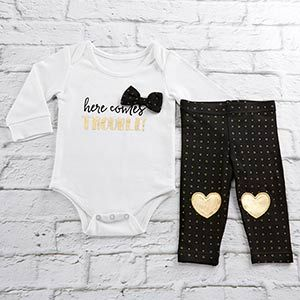Trendy Baby Here Comes Trouble 2-Piece Outfit | Baby Aspen
