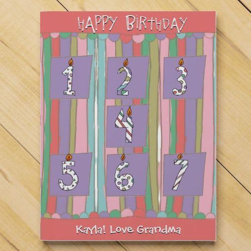 personalized girl birthday countdown calendar