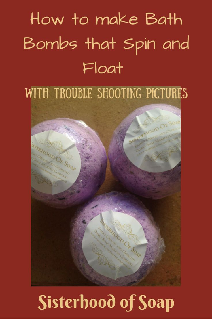Who doesn't love a fizzy bath filled with relaxing or invigorating scents? I know I do. Why not try making them? Embeds In order to make the bath bomb spin you want to have different ratios o…