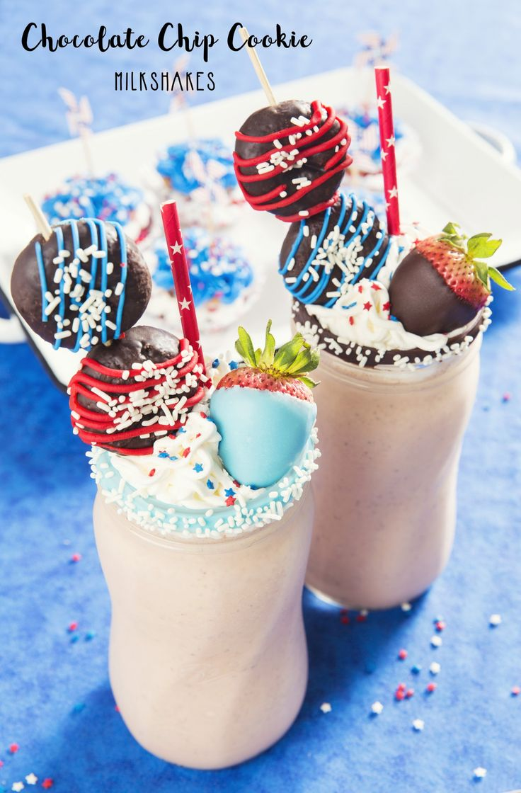 [ad] These Chocolate Cookie Crazy Milkshakes are fun and easy! Blend 1 pint of vanilla or strawberry ice cream, ¼ - ½ C. milk, and 6-8 NABISCO CHIPS AHOY! Cookies for a tasty summer treat. Also, dip the rim of your glasses into melted chocolate and sprinkles, and garnish with whipped cream and, of course, more sprinkles #NABISCO #BBQREMIX
