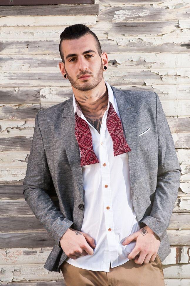 Men's Slim Fit Premium Blazer – Grey Linen $119.95  #Blazers&Jackets #www.sieteclothingco.com.au