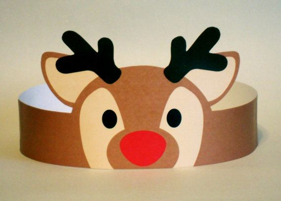 Reindeer Paper Crown Printable