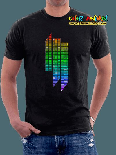 Remera Skrillex Logo ill Ecualizador - Color Animal