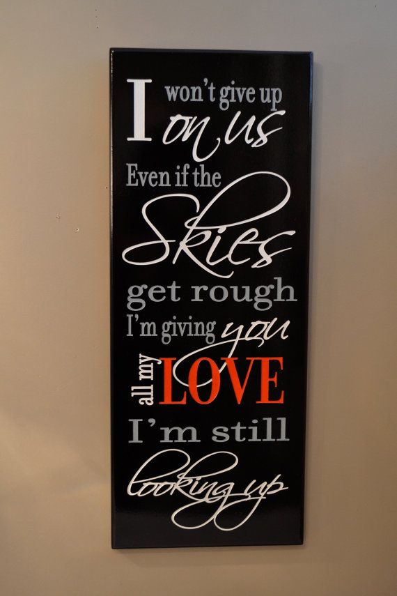 Personalized love quote sign carved painted by