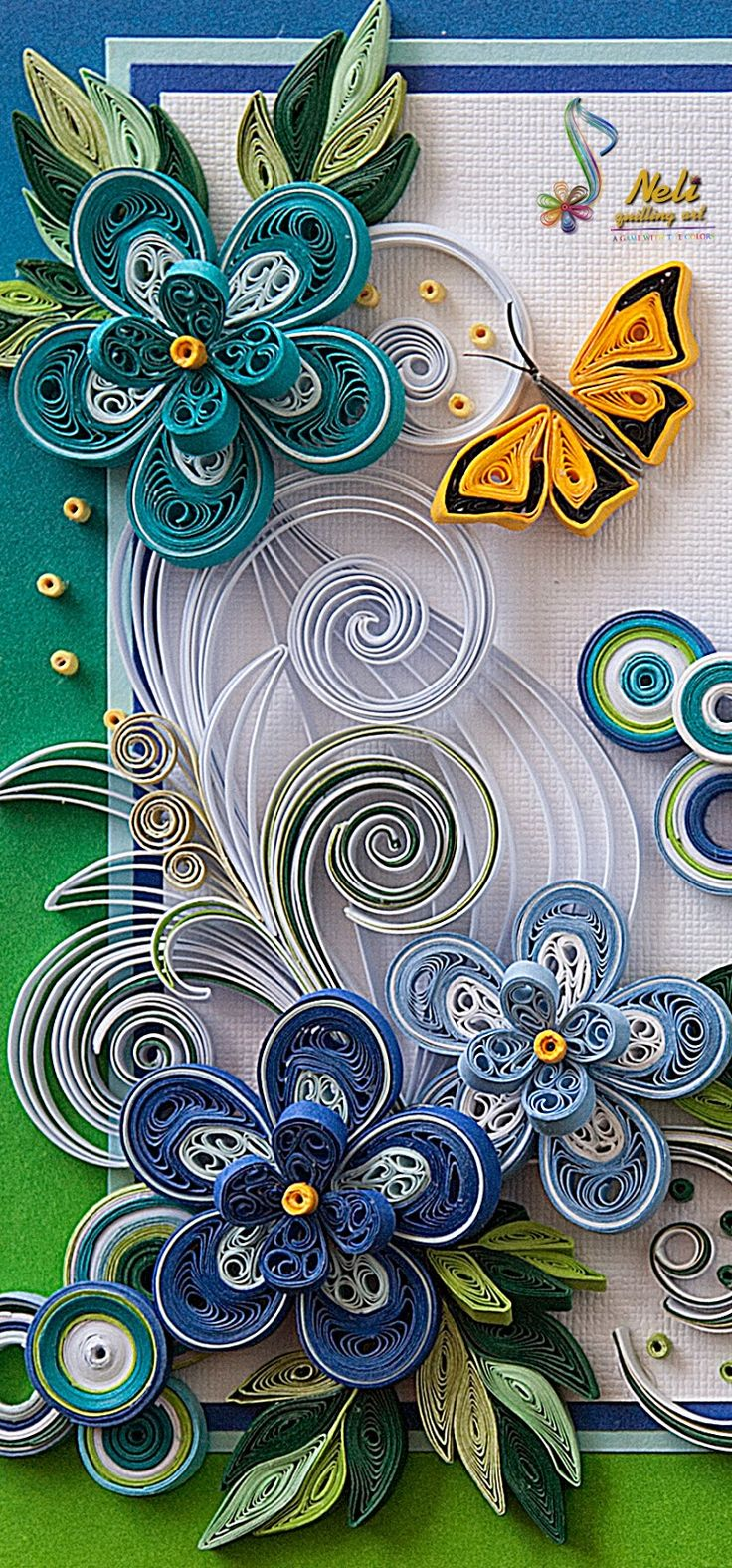 *QUILLING ~ by:  Neli Quilling Art: Quilling cards /14.8 cm- 10.5 cm/ - summer