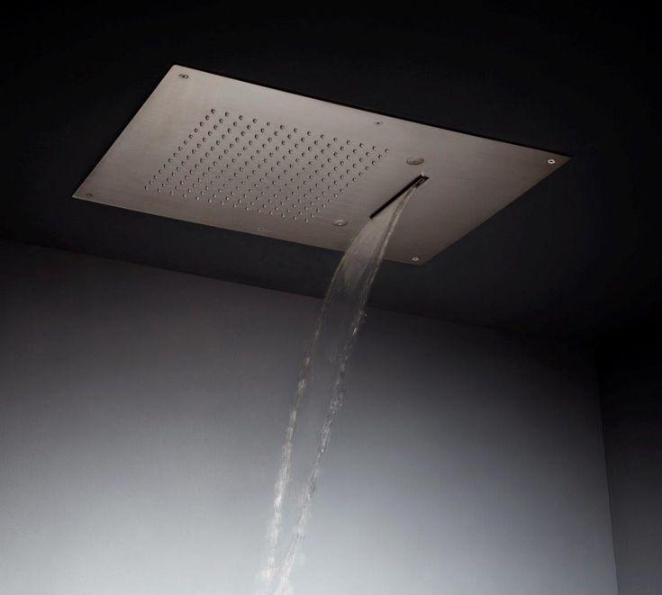 Stainless steel shower head by Tender Rain. Soffioni doccia in acciaio inox di Tender Rain. Multifunction.