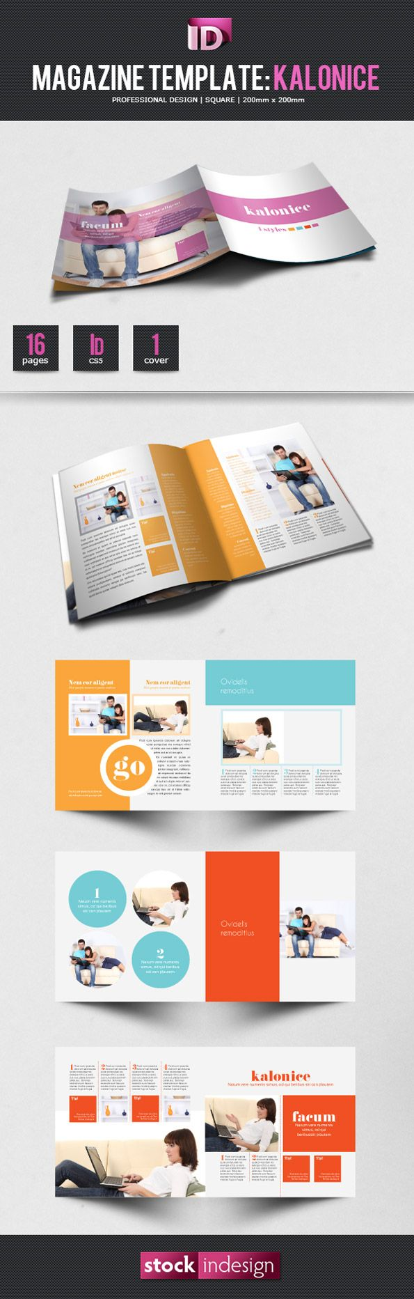 Free indesign magazine template kalonice layout for Adobe indesign magazine templates free download