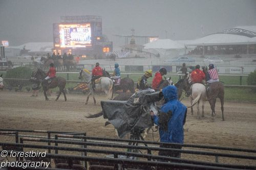 Rain at Preakness Stakes 2015