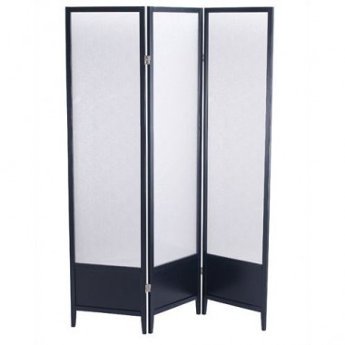 Adesso Toronto Folding Screen in Black Wood with Plexiglass Panels - WK2020-01