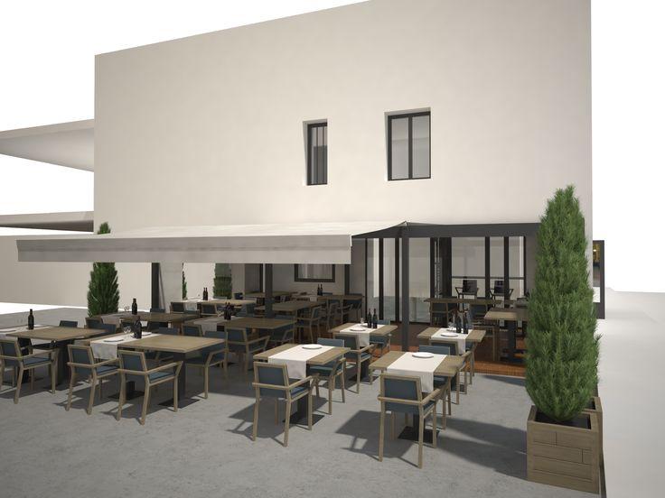 BAR PMU Rives - Isère(08) / Phase Concept // Création - Aménagement extérieur - Façade - Pergola /// réalisé par CADYPSO (Architecture d'intérieur - Agencement Magasins - ERP - Particuliers)