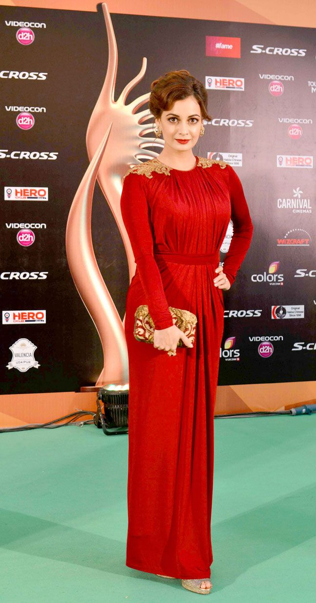 Dia Mirza at the green carpet of #IIFAAwards2015 in Malaysia